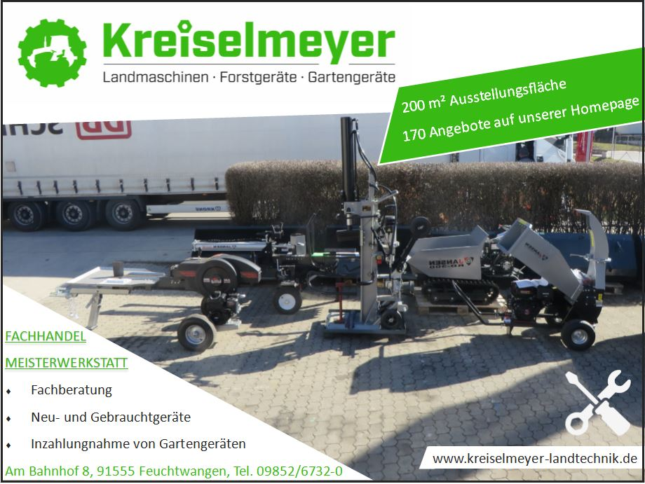 4.-Kreiselmeyer-Landtechnik-e.K.-Feuchtwangen-Holzspalter-Gartenhäcksler-Gartenschredder-Dumper-Jansen